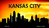 Kansas City Silhouette Wholesale Novelty Metal Magnet