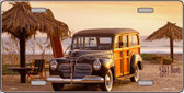 1941 Woody On The Beach Wholesale Metal Novelty License Plate LP-2012