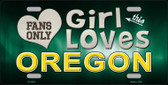 This Girl Loves Oregon Novelty Wholesale Metal License Plate