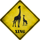 Giraffe Xing Wholesale Novelty Metal Crossing Sign