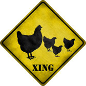 Chicken Xing Wholesale Novelty Metal Crossing Sign