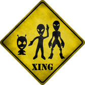 Aliens Xing Wholesale Novelty Metal Crossing Sign