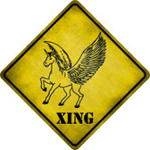 Unicorn Xing Wholesale Novelty Metal Crossing Sign