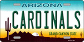 Cardinals Arizona State Background Novelty Wholesale Metal License Plate LP-2033
