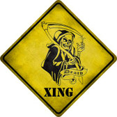 Grim Reaper Xing Wholesale Novelty Metal Crossing Sign