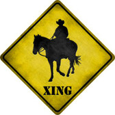 Cowboy Xing Wholesale Novelty Metal Crossing Sign