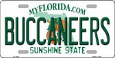 Buccaneers Florida State Background Novelty Wholesale Metal License Plate LP-2038