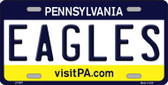Eagles Pennsylvania State Background NoveltyWholesale Metal License Plate LP-2057