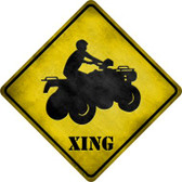 4 Wheeler Xing Wholesale Novelty Metal Crossing Sign
