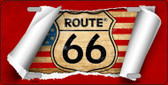 Route 66 Scroll Wholesale Metal Novelty License Plate