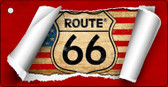 Route 66 Scroll Wholesale Novelty Key Chain