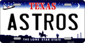 Astros Texas State Background Wholesale Novelty Metal License Plate