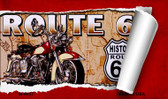 Route 66 Mother Road Scroll Wholesale Novelty Metal Magnet