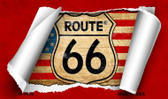 Route 66 Scroll Wholesale Novelty Metal Magnet