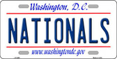 Nationals Washington DC State Background Wholesale Metal Novelty License Plate