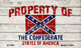 Property Of Confederate States Wholesale Novelty Metal Magnet