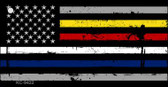 American Flag Police / Fire / EMS Wholesale Novelty Key Chain