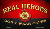 Real Heroes Red Wholesale Novelty Metal Magnet