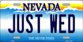 Just Wed Nevada Background Novelty Wholesale Metal License Plate