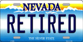 Retired Nevada Background Novelty Wholesale Metal License Plate