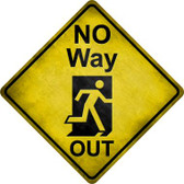 No Way Out Wholesale Novelty Metal Crossing Sign