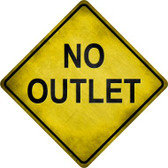 No Outlet Wholesale Novelty Metal Crossing Sign
