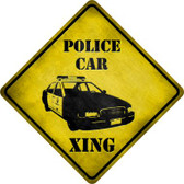 Police Car Xing Wholesale Novelty Metal Crossing Sign