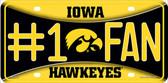 Iowa Hawkeyes Fan Deluxe Wholesale Metal Novelty License Plate LP-5613