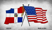 USA Dominican Republic Crossed Flags Wholesale Novelty Metal Magnet