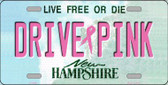 Drive Pink New Hampshire Novelty Wholesale Metal License Plate