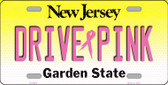 Drive Pink New Jersey Novelty Wholesale Metal License Plate
