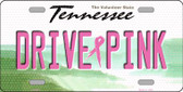 Drive Pink Tennessee Novelty Wholesale Metal License Plate