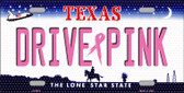 Drive Pink Texas Novelty Wholesale Metal License Plate