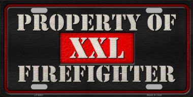 Property Of Firefighter Novelty Wholesale Metal License Plate