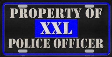 Property Of Police Officer Novelty Wholesale Metal License Plate