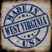 West Virginia Stamp On Wood Wholesale Novelty Metal Square Sign