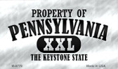 Property Of Pennsylvania Wholesale Novelty Metal Magnet