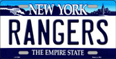 Rangers New York State Background Wholesale Metal License Plate