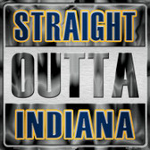 Straight Outta Indiana Wholesale Novelty Metal Square Sign