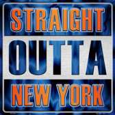 Straight Outta New York Wholesale Novelty Metal Square Sign