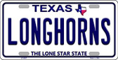 Longhorn Texas Background Novelty Wholesale Metal License Plate