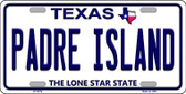 Padre Island Texas Background Novelty Wholesale Metal License Plate