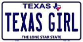 Texas Girl Texas Background Novelty Wholesale Metal License Plate