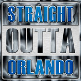 Straight Outta Orlando Wholesale Novelty Metal Square Sign