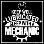 Keep Well Lubricated Wholesale Novelty Metal Square Sign