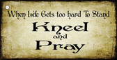 Kneel And Pray Wholesale Novelty Key Chain