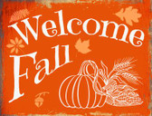 Welcome Fall Wholesale Metal Novelty Parking Sign P-1454