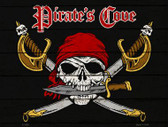 Pirates Cove Wholesale Metal Novelty Parking Sign