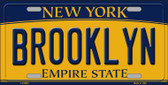 Brooklyn New York Background Wholesale Metal Novelty License Plate