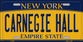 Carnegie Hall New York Background Wholesale Metal Novelty License Plate